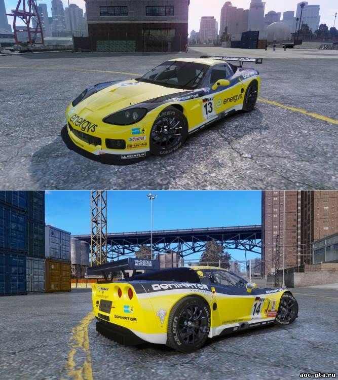 Chevrolet Corvette C6R GT1 (NFS SHIFT 2) для GTA 4