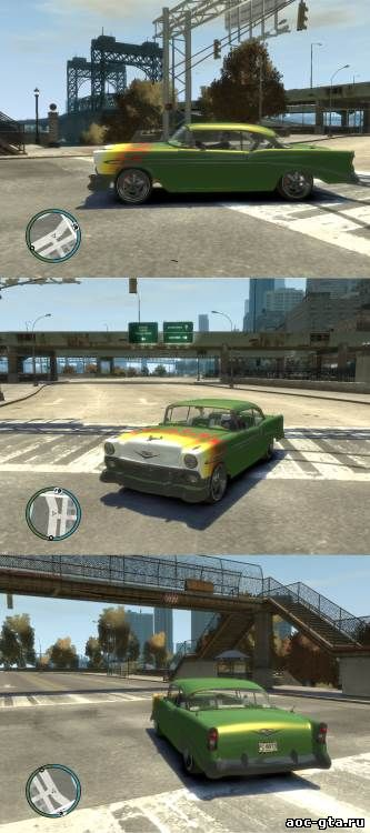 Chevy Bel Air 1956 Custom для GTA 4
